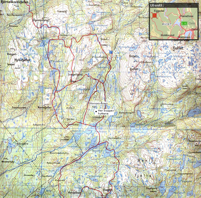norefjell kart Nærområdet – Eggedal Vestfjell norefjell kart